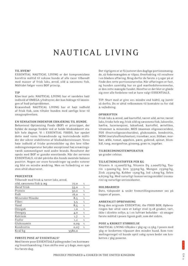 4 X 3KG SMALL SIZE ESSENTIAL NAUTICAL LIVING 1