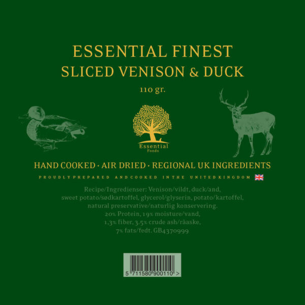 ESSENTIAL FINEST SLICED VENISON & DUCK 110G 2