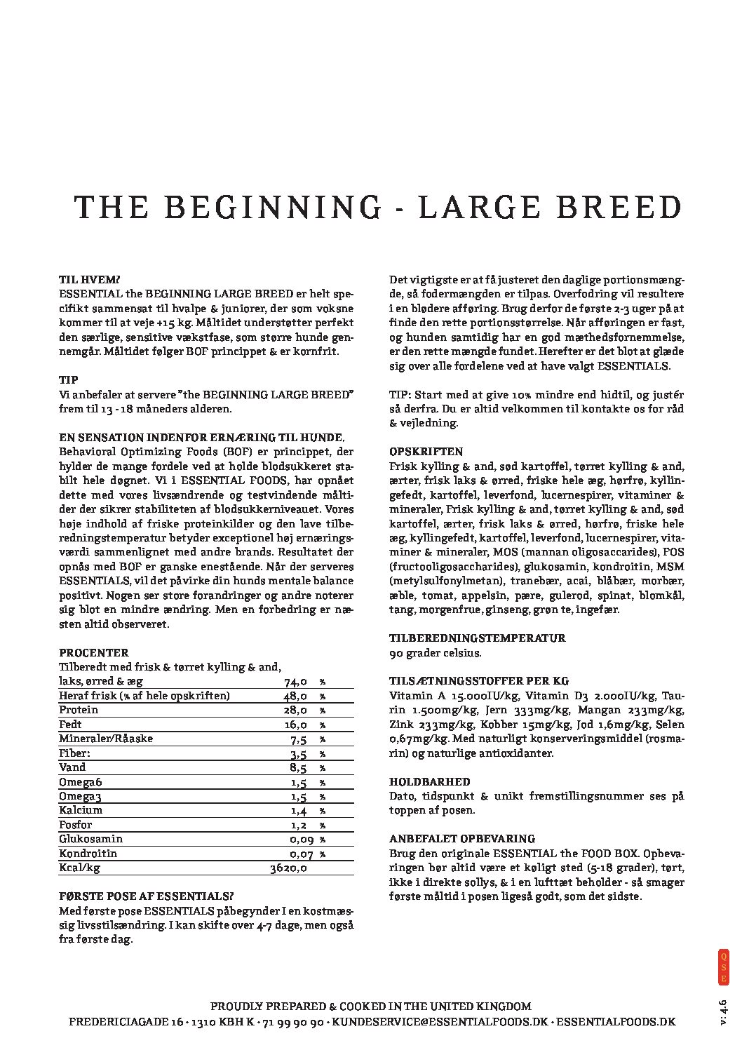 12,5KG ESSENTIAL THE BEGINNING LARGE BREED 1