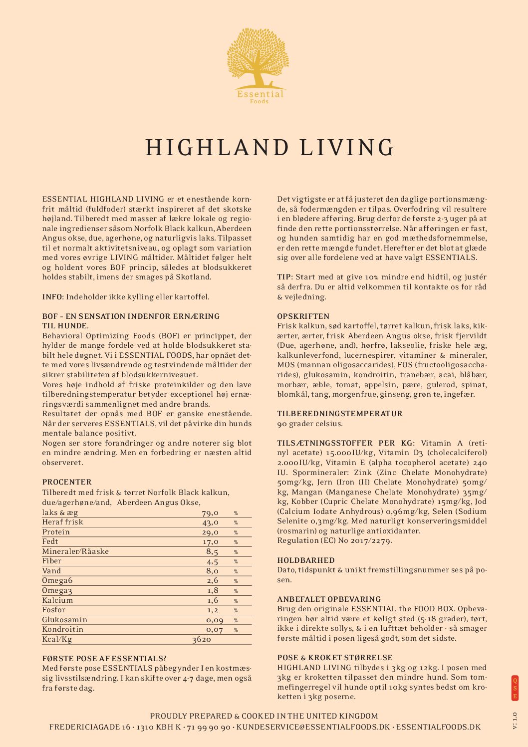 4 X 3KG SMALL SIZE ESSENTIAL HIGHLAND LIVING 1